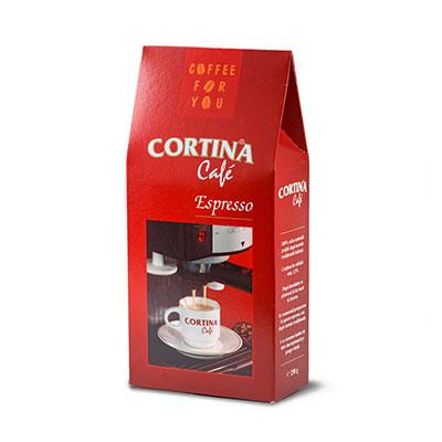 CORTINA Café Espresso Vidată 250 gr.